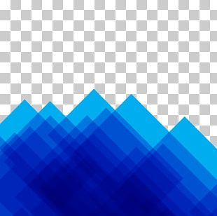 Blue Geometry Abstract Art Shape Abstraction PNG