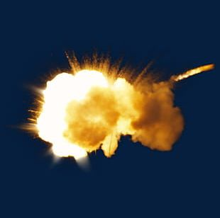 Powder Explosion Light Mushroom Cloud PNG