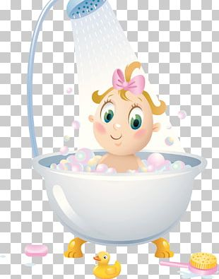 Shower Bathroom Child Bathtub Illustration PNG