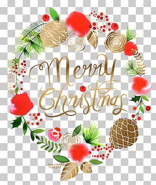 Christmas Wreath Santa Claus Garland Malibu Marine Ltd PNG