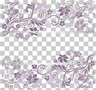Purple Euclidean Pattern PNG