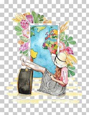 Watercolor Painting Fashion Illustration Drawing Travel Illustration PNG