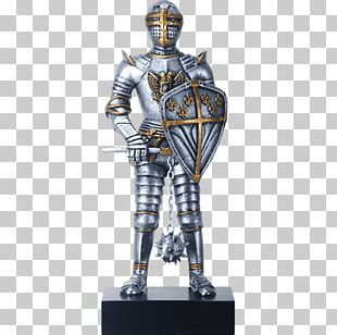 Figurine Knight Middle Ages Statue Plate Armour PNG