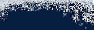 Christmas White Snowflake Superimposed Material PNG
