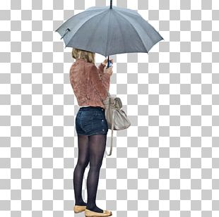 Umbrella Woman Rendering PNG