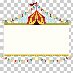 Wedding Invitation Circus Poster Banner PNG