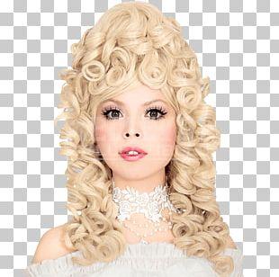 Blond Wig Ringlet Long Hair Hair Coloring PNG