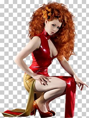 Woman Love Wig Yellow Red Hair PNG