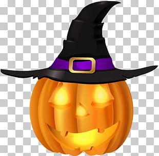 Pumpkin Witch Hat Halloween Jack-o'-lantern PNG