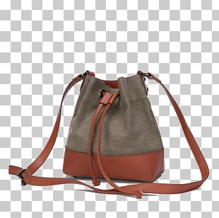 Shoulder Strap Leather Handbag PNG