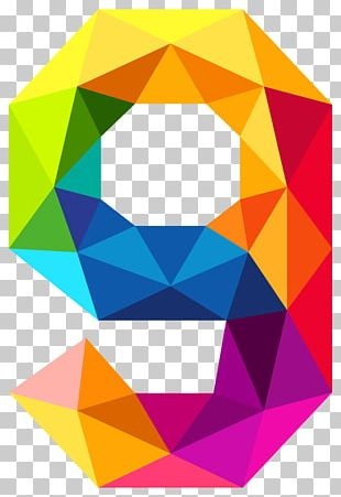Triangular Number Color PNG