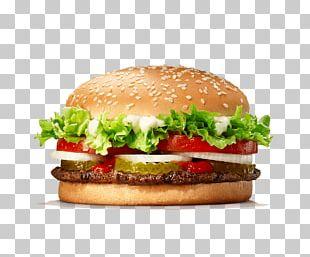 Hamburger Whopper Chicken Sandwich Burger King Restaurant PNG