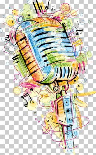 Microphone Saxophone Sketch PNG