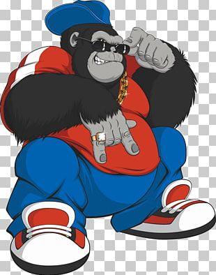 Gorilla Ape Cartoon Illustration PNG