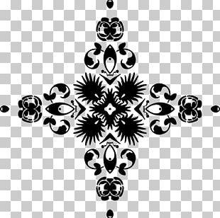 Black And White Christmas Tree Visual Arts Monochrome Pattern PNG