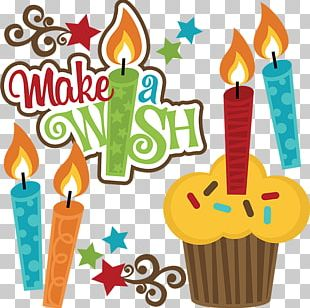Birthday Cake Wish Greeting & Note Cards PNG