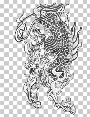 Tattoo Qilin Chinese Dragon Unicorn Pixiu PNG