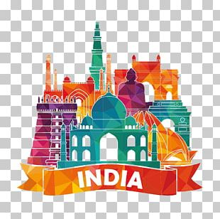 India Illustration PNG