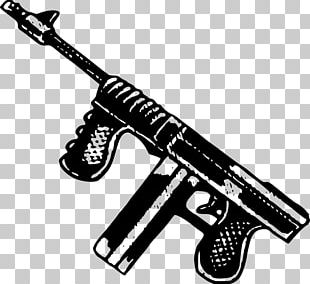 Thompson Submachine Gun Firearm Weapon PNG