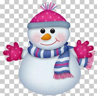 Snowman Christmas Card PNG
