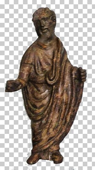 Bronze Sculpture Figurine Christianity Roman Empire PNG