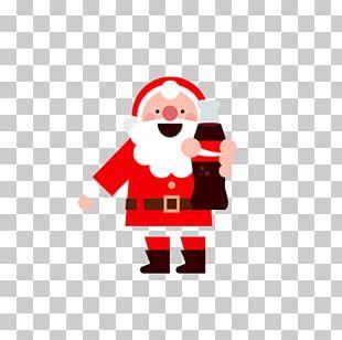 Santa Claus Christmas Flat Design Gift PNG
