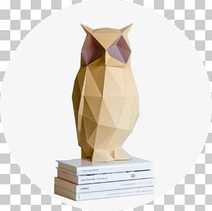 Owl Paper Light Drawing Lamp PNG