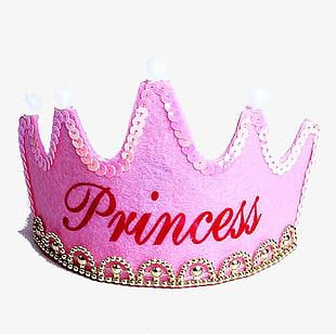 Pink Birthday Crown PNG