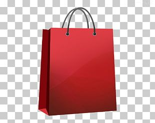 Shopping Bag Red Tote Bag PNG