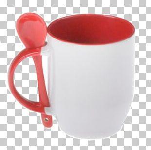 Mug Coffee Cup Spoon Ceramic Handle PNG