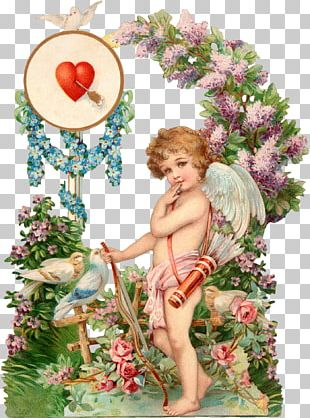 Valentines Day Paper Greeting Card Cupid Postcard PNG