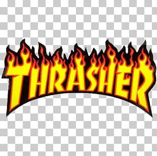 Thrasher Skateboarding Magazine Grip Tape PNG