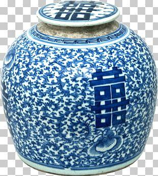 Blue And White Pottery Ceramic Cobalt Blue Vase Porcelain PNG
