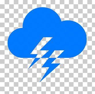 Computer Icons Lightning Cloud Thunder Rain PNG