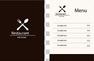 Restaurant Menu PNG