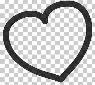 Heart Black And White Drawing PNG