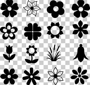 Silhouette Flower Stock Photography Drawing PNG