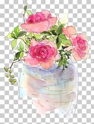 Watercolor: Flowers Artist Trading Cards Watercolor Painting PNG