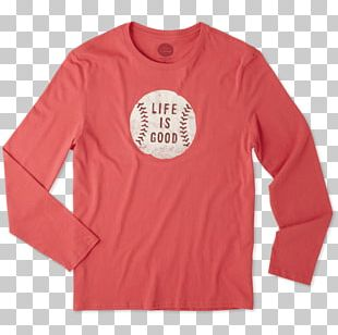 Long-sleeved T-shirt Long-sleeved T-shirt Life Is Good Company Printed T-shirt PNG