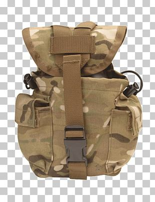 MOLLE Military Canteen MultiCam Army Combat Uniform PNG