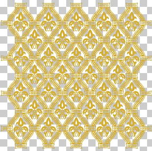 Symmetry Yellow Area Pattern PNG