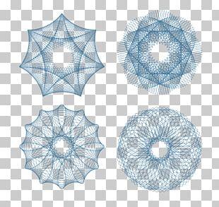 Line Guilloché Euclidean Pattern PNG