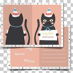 Wedding Invitation Cat Birthday Greeting Card PNG