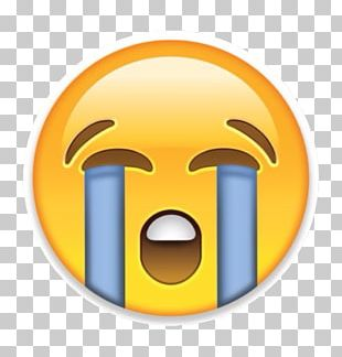 Face With Tears Of Joy Emoji Sticker Crying Emoticon PNG