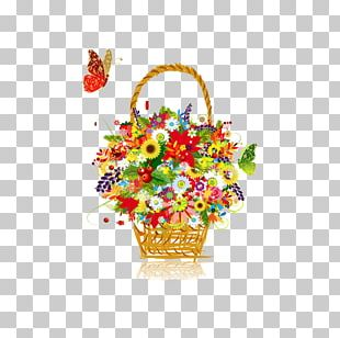 Flower Basket Stock Photography PNG