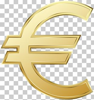 Euro Sign 100 Euro Note Euro Coins PNG