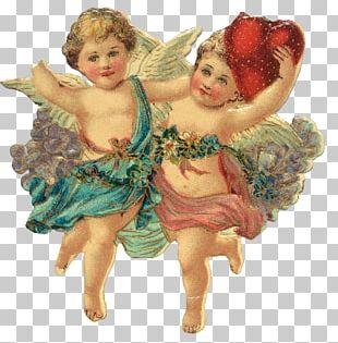 Valentine's Day Cupid Scrapbooking Craft Antique PNG