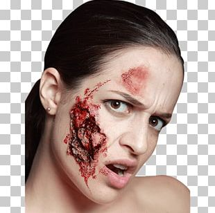 Zombie Make-up Disguise Halloween Costume PNG