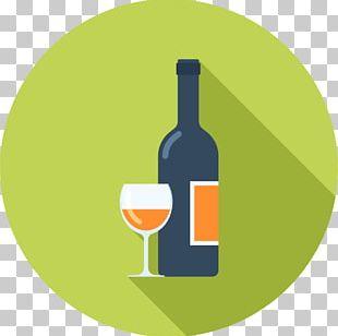White Wine Glass Bottle Liqueur PNG