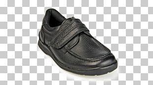 Slip-on Shoe Leather Strap Hook And Loop Fastener PNG
